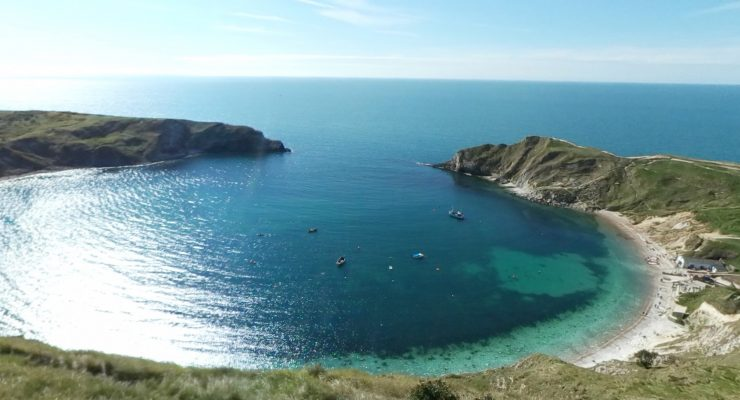 Lulworth Cove arial view