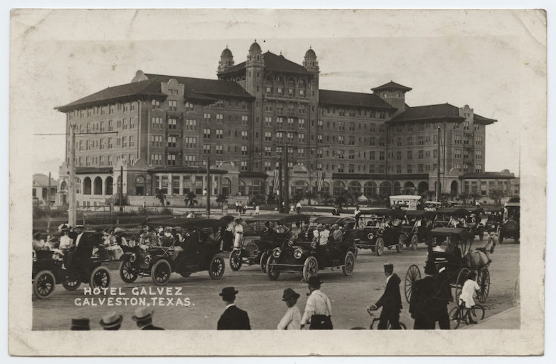 An old picture of Hotel Galvez