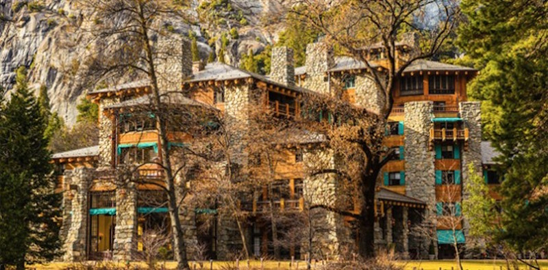The Majestic Yosemite Hotel, formerly the Ahwahnee Hotel, in Yosemite National Park