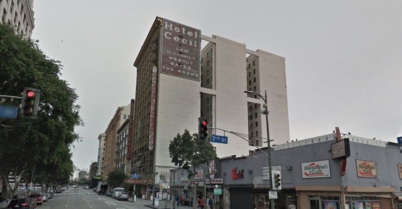 The Cecil Hotel in Los Angeles