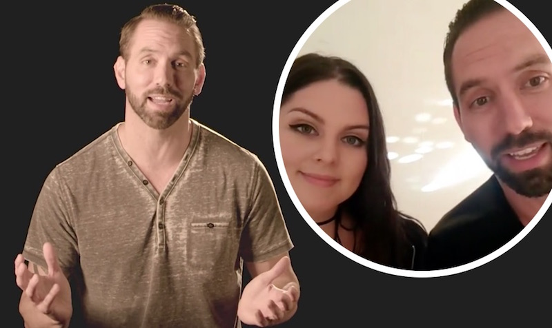 Paranormal Lockdown's Nick Groff and, inset, with Katrina Weidman