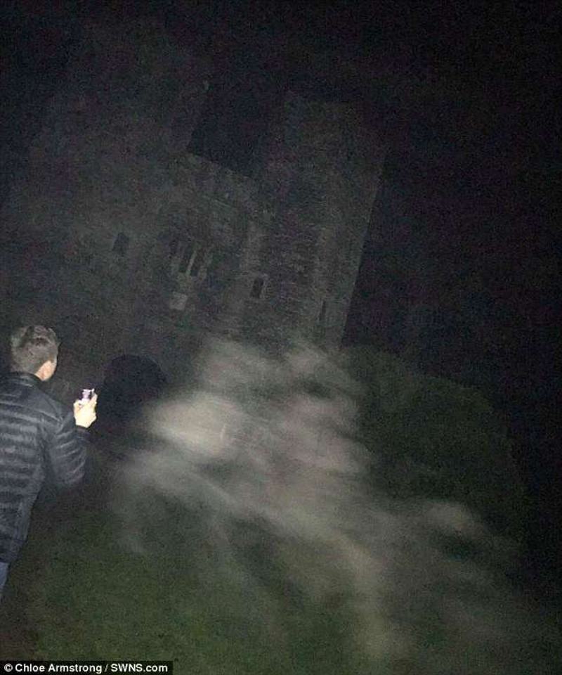 This is the picture that a Chloe captured at Berry Pomeroy Castle that she and her friends are convinced depicts the Pomeroy brothers