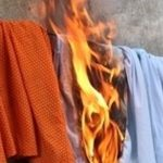 The self-burning, wet clothes that lead locals to believe that a fire poltergeist is responsible for a string of spontaneous fires.